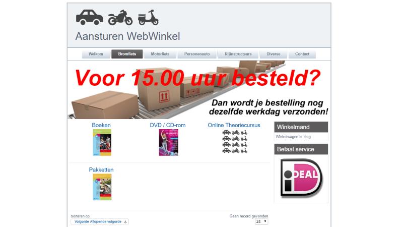 Aansturen Webwinkels